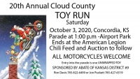 Annual Cloud County Toy Run