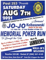 Annual Jo-Jo Kolbasowski Memorial Poker Run