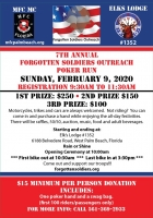 Annual Poker Run for Forgotten Soldiers Outreach