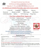 Annual Sweetwater Jaycee Roosters Fall Motorcycle Rally & Cook-Off & Swap Meet