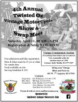 Annual Twisted Oz Vintage Motorcycle Show and Swap Meet