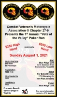 Annual Vets of The Valley Poker Run