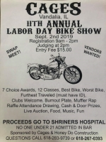 Cages Annual Bike Show