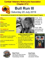 Combat Veterans Motorcycle Association Bull Run III