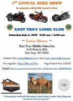 East Troy Lions Club Annual Bike Show