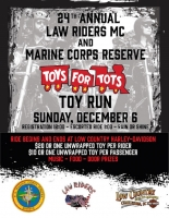 Law Riders MC & USMC Toys for Tots Toy Ride